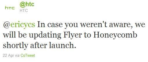 htc tweet, il flyer verra aggiornato poco dopo il lancio